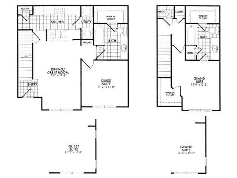1,102 sq. ft. 60% floor plan