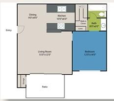 552 sq. ft. Kendel floor plan