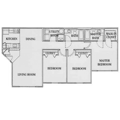 1,154 sq. ft. 60% floor plan