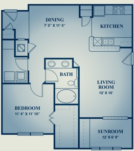 976 sq. ft. RIESLING floor plan