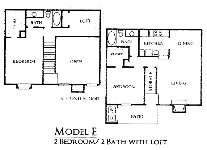 1,160 sq. ft. E floor plan
