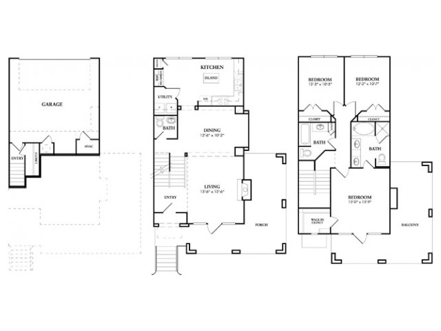 1,628 sq. ft. Wynden floor plan