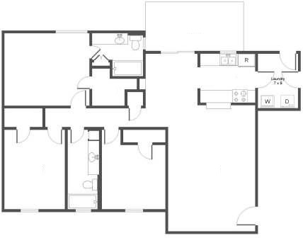 1,326 sq. ft. floor plan