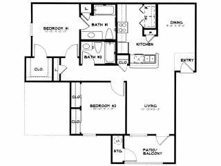 950 sq. ft. 30 floor plan