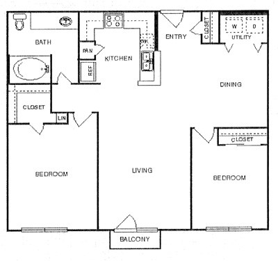 1,002 sq. ft. Noble w/ Garage floor plan