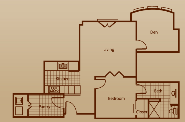 880 sq. ft. to 1,120 sq. ft. floor plan