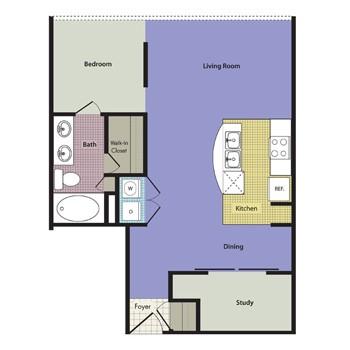 975 sq. ft. Palermo floor plan