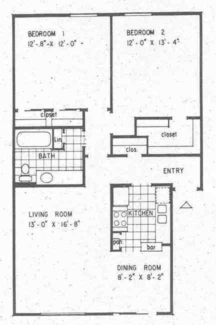 941 sq. ft. B3 floor plan