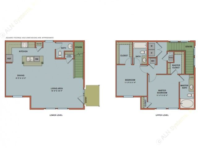 1,360 sq. ft. EB1 floor plan