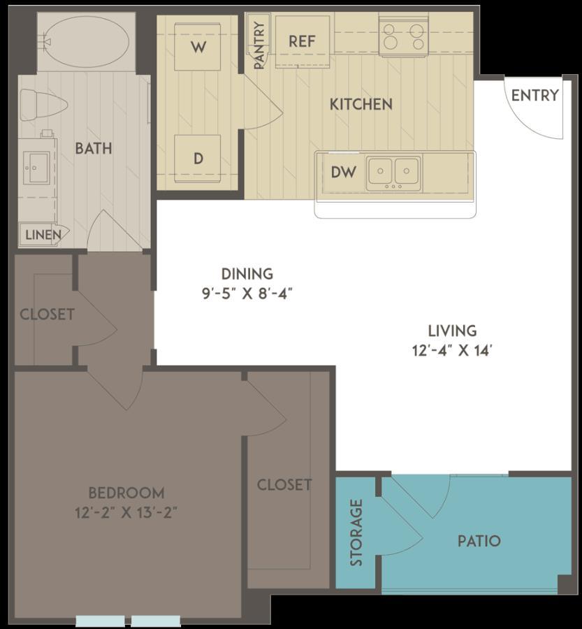 797 sq. ft. floor plan