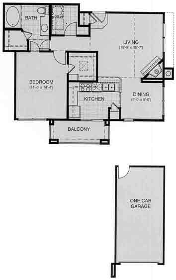 802 sq. ft. Lausanne floor plan