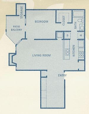 777 sq. ft. Orion floor plan