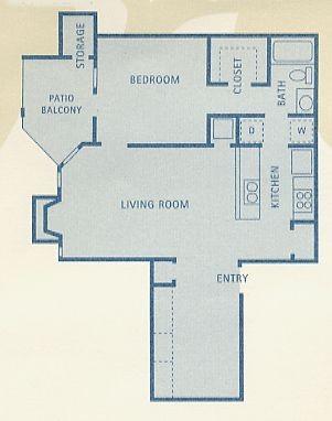 777 sq. ft. Orion floor plan