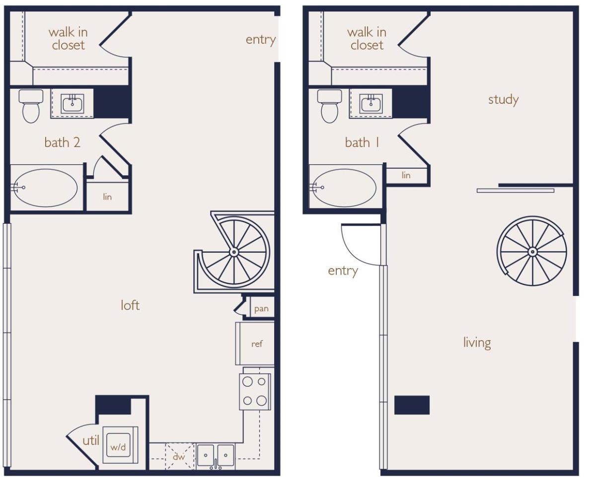 1,215 sq. ft. floor plan