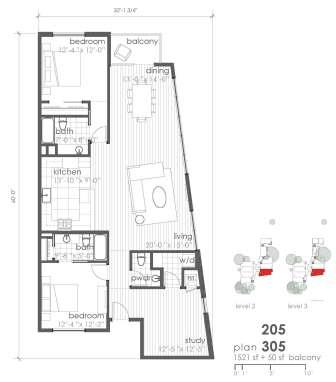 1,521 sq. ft. B9 floor plan