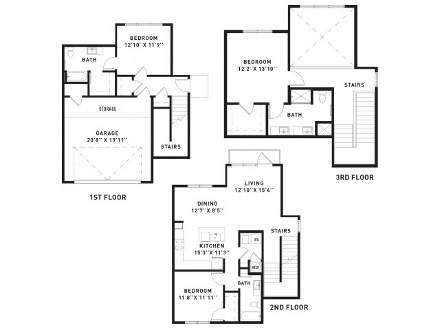 1,840 sq. ft. TH2 floor plan