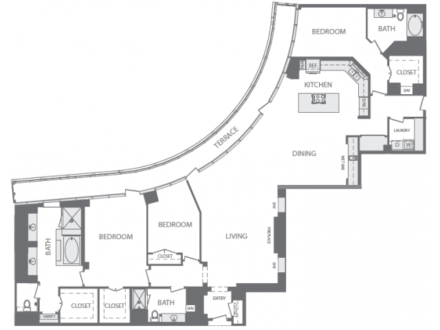 3,306 sq. ft. R floor plan