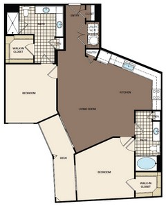 1,225 sq. ft. C3a floor plan