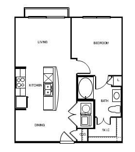 672 sq. ft. Athens floor plan