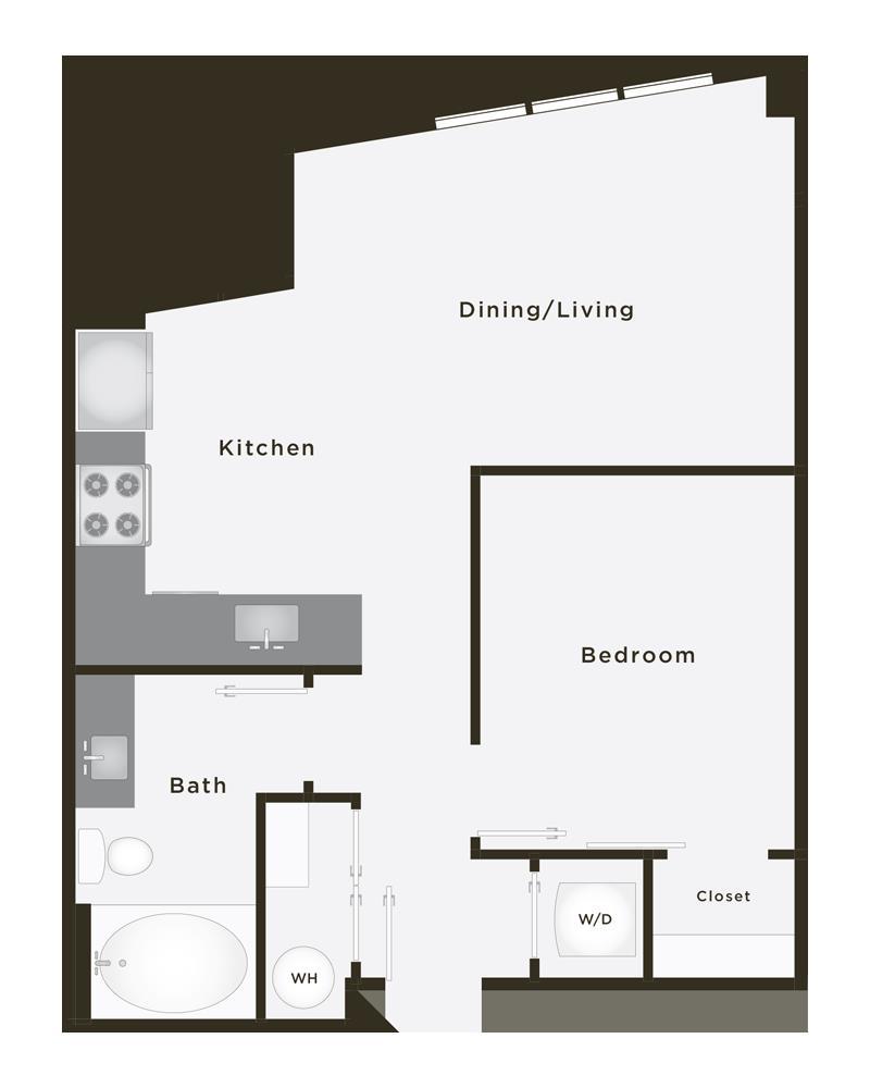 608 sq. ft. Platinum floor plan