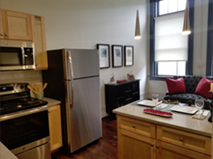 Living/Kitchen at Listing #287499
