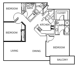 1,476 sq. ft. C1 floor plan