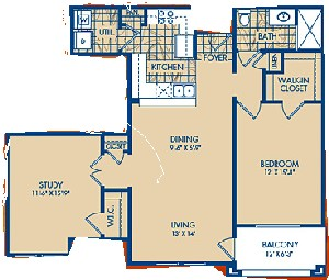 978 sq. ft. SAN PEDRO floor plan