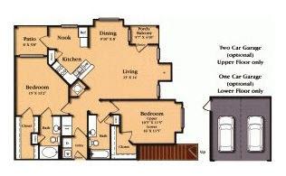 1,397 sq. ft. B5/B6G floor plan
