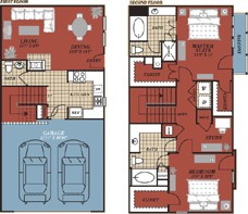 1,436 sq. ft. Madrid floor plan