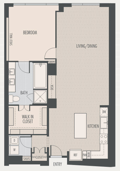1,160 sq. ft. A4.2 floor plan