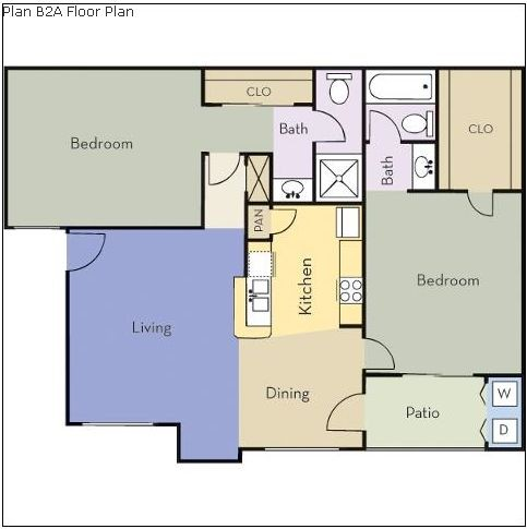 925 sq. ft. Magnolia floor plan