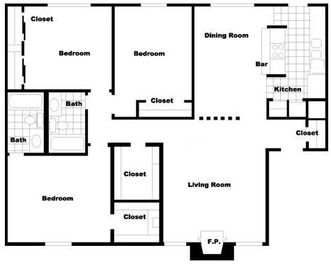 1,368 sq. ft. floor plan