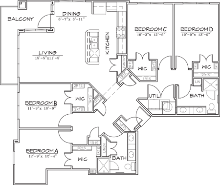 1,488 sq. ft. floor plan