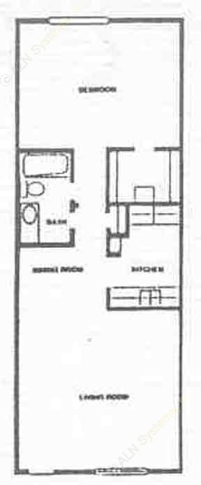 554 sq. ft. A2 floor plan