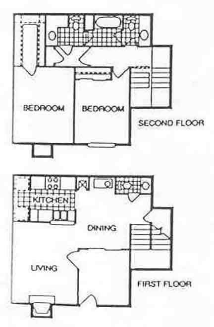 1,115 sq. ft. Soundview floor plan
