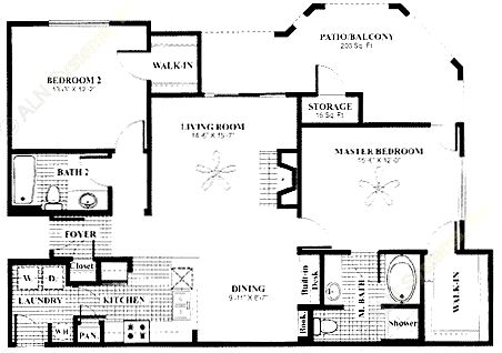 1,181 sq. ft. Veranda w/Gar floor plan