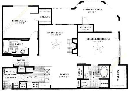 1,181 sq. ft. Veranda w/Gar floor plan