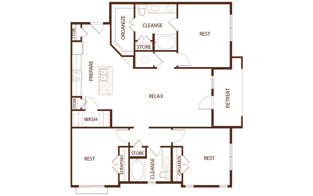 1,530 sq. ft. C1B floor plan