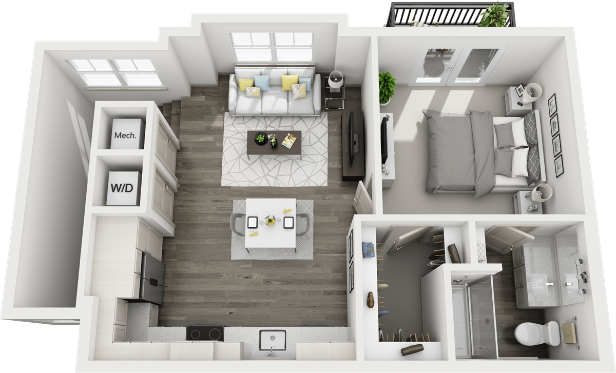 739 sq. ft. G1 floor plan