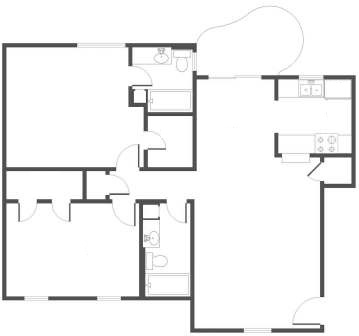 1,093 sq. ft. floor plan