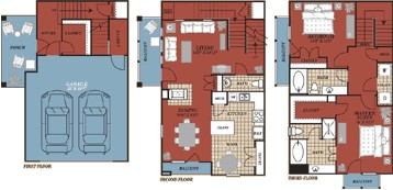 1,668 sq. ft. Pamploma floor plan