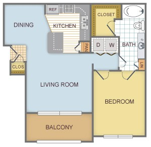 760 sq. ft. B/Alpine floor plan