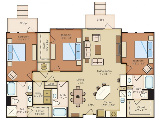 1,711 sq. ft. C2A floor plan