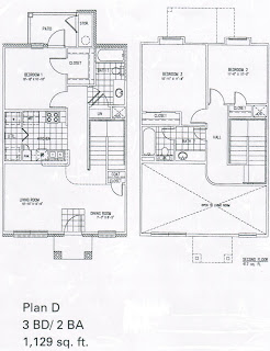 1,129 sq. ft. D/MKT floor plan
