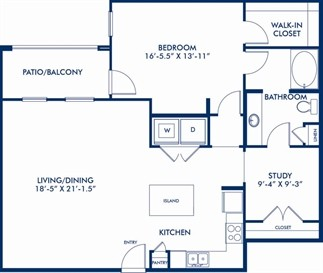 1,170 sq. ft. AS4 floor plan