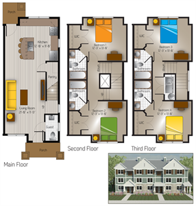 1,437 sq. ft. Stonewall(Cottage) floor plan