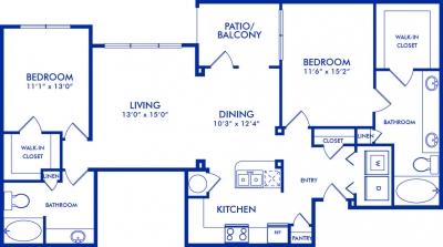 1,301 sq. ft. CORNELL floor plan