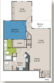 1,057 sq. ft. A9 floor plan