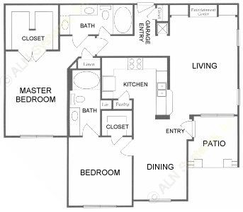 1,224 sq. ft. F floor plan