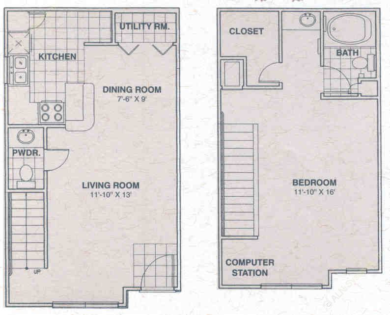1,339 sq. ft. IRON ROCK floor plan